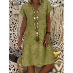 New Women Casual V Neck Floral Dress