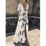 New Bohemian Floral High Split Dress