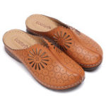New LOSTISY Hollow Out Breathable Slip On Comfy Flat Sandals