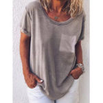 New Pure Color O-neck Short Sleeve Casual T-shirts