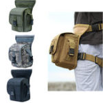 New Outdoor Tactical Men Waist Leg Bag Waterproof Hip Drop Belt Fanny Pack Pouch Camping Hiking