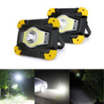New Portable USB COB LED Camping Lantern Lamp Outdoor Work Light Spotlight 4 Modes