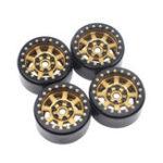 New 4PCS 1.9inch Aluminum Beadlock Wheel Hubs Rims for 1/10 Rc Crawler Axial Scx10 II D90 Car Parts