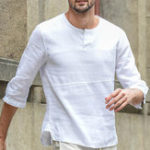 New Mens Casual Cotton Crew Neck Tops Solid Color T-shirts