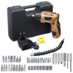 New 45 IN 1 4.8V Electric Screwdriver Drill Kit Rechargeable Cordless Power Repairing Tools Set