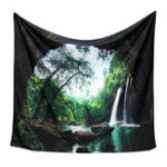 New 3D Trees Great Waterfall Print Wall Hanging Tapestry Decor Bedspread