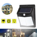 New 50 LED Solar Powered PIR Motion Sensor Wall Security Light Garden Outdoor Lamp