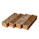 New Retro Wooden Hollow Out Pen Pencil Case Stationery Box Storage Holder Organizer Pencil Box