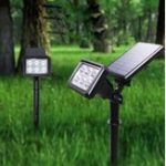 New Solar Power White / Warm White / Colorful Spot Flood Light Wall Garden Outdoor Yard Landscape Lamp