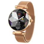 New Bakeey B80 Female Menstrual Period Record Blood Pressure Milanese Steel Fashion Smart Watch Whatsapp Reminder 8 Sports Mode