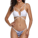 New Low Waist Lace-Up Back Beauty Back Bikini