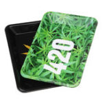 New 18cm*12.5cm Portable Metal Rolling Tray Smoking Cigarettes Holder Trays Decorations