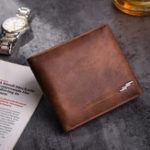 New Men Business Casual Multifunctional Leather Hasp Card Holder