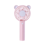 New Well Star WT-016 Little Bear Mini USB Fan with Colorful Light Mode Handheld Small Fan Portable Air Cooler Silent Cooling Fan For Home Office Student Dormitory Outdoors Travelling