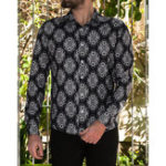 New Men Tribal Pattern Printed Turn Down Collar Couple Shirts