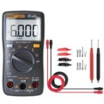 New ANENG AN8001 Black Professional True RMS Digital Multimeter 6000 Counts Backlight AC/DC Ammeter Voltmeter Resistance Capacitance Frequency Tester + Test Lead Set