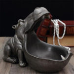 New Hippopotamus Statue Resin Ornaments Snack Key Storage Table Home Office Art Decorations