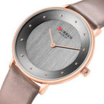 New CURREN 9033 Ultra Thin Dial Case Casual Style Quartz Watch