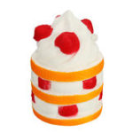 New  Squishy Strawberry Three-layer Cake Hanging Ornament Squishy Gift Collection With Packaging