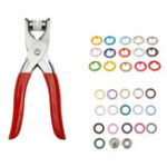 New 310pcs 31 Colors 9.5mm Pliers Tool Metal Buttons Prong Snap Fastener Press Studs + Plier Kit