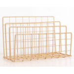 New 3 Compartments Wrought Iron Letter Storage Rack Tray Holder Desktop Organizer