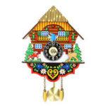 New Vintage Home Bird Cuckoo Pendulum Wall Clock Wood Decorative Living Room Hanging