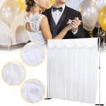 New 3x3M White Stage Wedding Party Backdrop Photography Background Drape Curtains