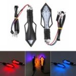 New 2Pcs Motorcycle Turn Signal Lights ABS Plastic Material Red Yellow Blue