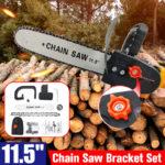 New 11.5 Inch DIY Electric Chain Saw Bracket Set with Adjustment Knob Woodworking