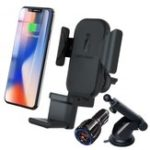 New Bakeey 3 In 1 Car Holder 10W Qi Wireless Charger For Iphone 8 X XS Fast Wireless Charger For Apple Watch for Samsung Air Xiaomi Pods