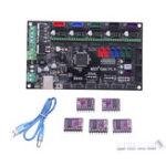 New MKS-GEN V1.4 3D Printer Mainboard+5Pcs DRV8825 Driver for 3D Printer Compatible with Mega 2560 R3/RepRap Ramps1.4