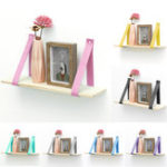 New Hanging Wall Shelf Vintage Storage Floating Bookshelf Home Decorations