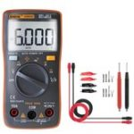 New ANENG AN8002 Orange Digital True RMS 6000 Counts Multimeter AC/DC Current Voltage Frequency Resistance Temperature Tester ℃/℉ + Test Lead Set