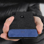 New Bakeey Luxury Fabric Splice Soft Silicone Edge Shockproof Protective Case For Xiaomi Mi Play