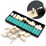 New 12pcs Wool Burr Bits Drill Kit Manicure Polishing Wheel Rotary Abrasive Tool