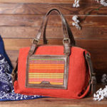 New Women Patchwork Handmade National Handbag