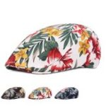 New Unisex Flower Print Vogue Cotton Beret Hat