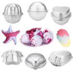 New 12Pcs 6 Set 6 Shape Aluminum Bath Molds Desert Mould DIY Homemade Craft