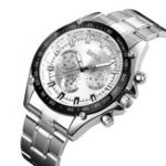 New SKMEI 1366 Business Stainless Steel Waterproof Quartz Watch