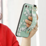 New Vintage Flower Pattern Strap Ring Grip Stand Protective Case For iPhone XR/XS/XS Max/X/8/8 Plus/7/7 Plus/6s/6s Plus/6/6 Plus