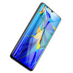 New Baseus  0.3mm 9H Hardness Full Curved Cover Anti-Explosion Anti-Bluelight Tempered Glass Screen Protector for Huawei P30