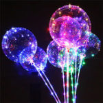 New 20-inch DIY Luminous Transparent Wave Ball Birthday Wedding Decoration Led Lantern Balloon Vibrating Toy
