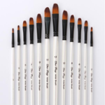New Zhuting 12 Pcs 0013FR 0013A Front / Oblique Nylon Writing Brush Set