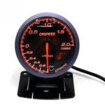 New 12V 2.5inch 60MM Car Auto Racing LED Turbo Boost Gauge Vacuum Pressure Bar Meter