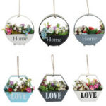 New Retro Flower Pot Wall Hanging Balcony Garden Plant Metal Iron Planter Home Decor