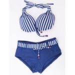 New Low Waist Striped Boxer Bikini