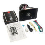 New 200W 12V 130db 18 Sounds Car Alarm Loud Speaker PA Siren Horn Kit MIC System