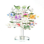 New Transparent Chirstmas Tree Hanging Ornaments 60mm Crystal Glass Lotus Miniature Figurine Home Decorations