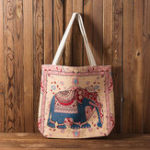 New Women National Embroidery Elephant Crossbody Bag