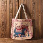 New Women National Embroidery Elephant Crossbody Bag